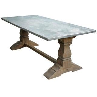 Zinc-Wrapped Top & Belgian Oak Farm Table