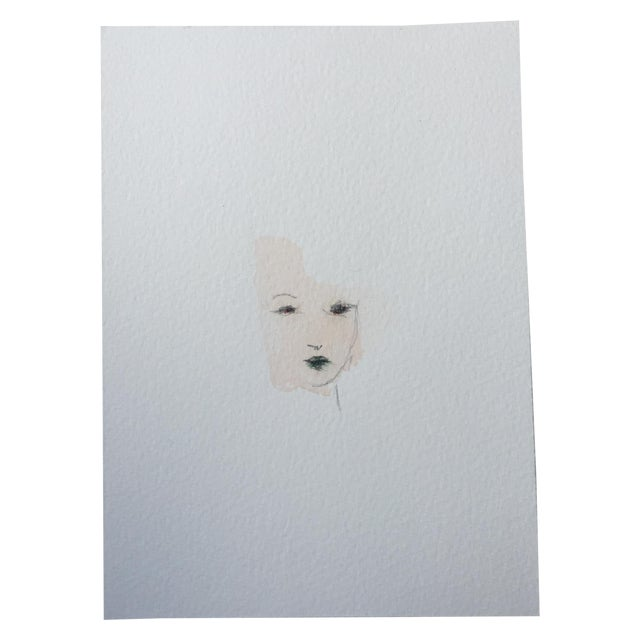 Minimal Watercolor Face Painting - Image 1 of 4