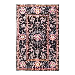 """Suzani Hand Knotted Area Rug - 4'3"""" X 6'7"""""""