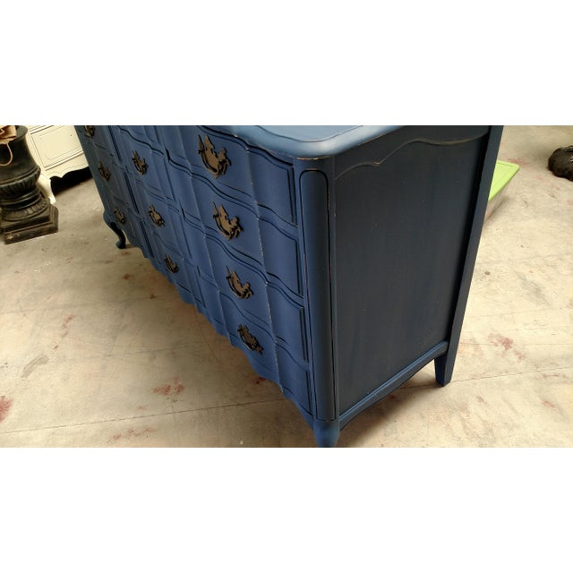 Navy French Provincial Dresser - Image 6 of 6