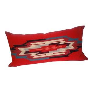 Large Indian Weaving, Chimayo Bolster Pillow