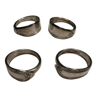 Vintage Silverplate Napkin Rings - Set of 4