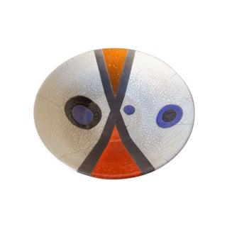 Mid-Century Raku Pottery Bowl