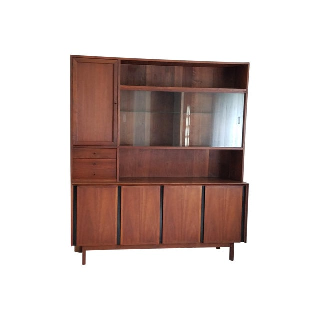 Mid-Century Dillingham Wall Unit with Shelving - Image 1 of 9