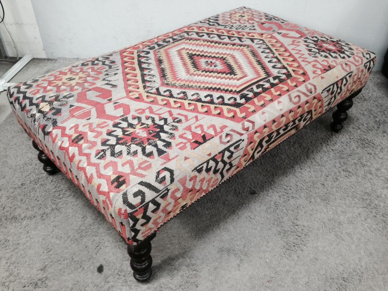 George Smith Boho Chic Kilim Ottoman   Image 3 Of 10