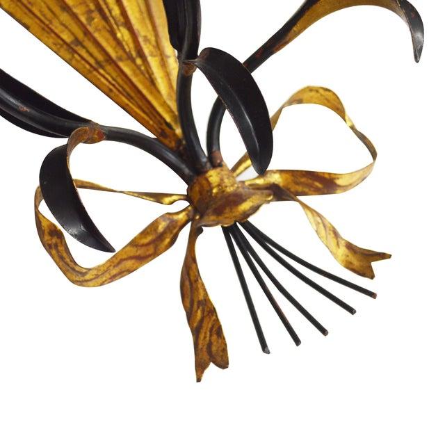 Image of Italian-Style Gilt Sconces - Pair