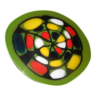 Mid-Century Art Glass Charger