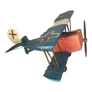 Folk Art Metal Airplane