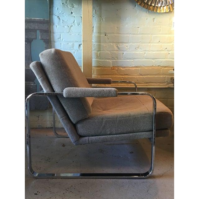 Image of Milo Baughman-Style Chrome Chair