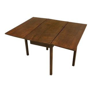 Antique Rustic & Primitive English Oak Gate-Leg Table