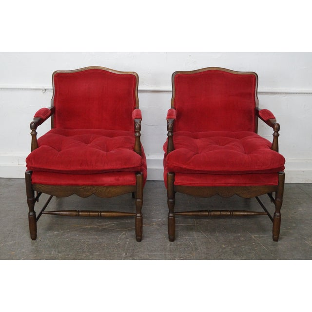 French Country Fauteuils Arm Chairs - A Pair - Image 3 of 11