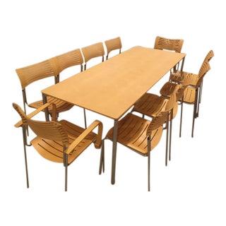 Fritz Hansen Table & 10 Chairs