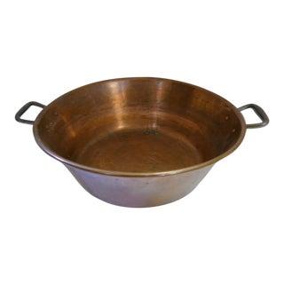 Antique French Copper Cauldron
