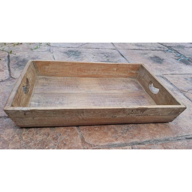 Reclaimed Wood Primitive Style Large Serving Tray - Image 4 of 5