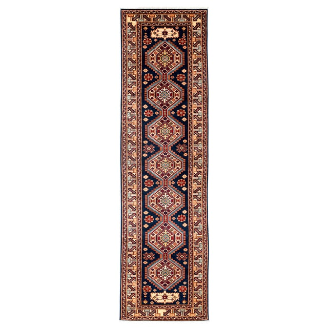 "New Traditional Hand Knotted Runner - 2'7"" x 9'5"" - Image 1 of 3"