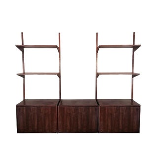 Danish Cado-Style Teak Hanging Shelf Unit