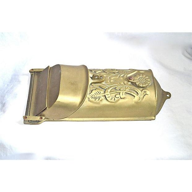 Image of Vintage Brass Mailbox With Peephole