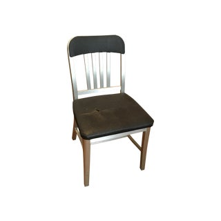 Emeco Semi-Upholstered Navy Chair