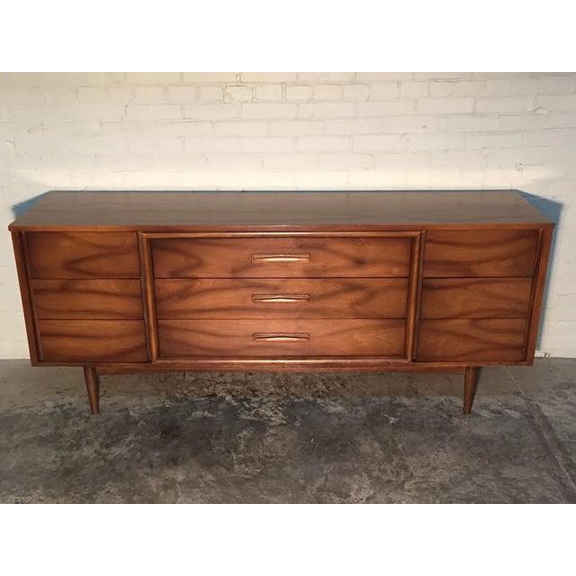 Walnut Mid-Century Danish Modern Dresser - Image 10 of 11