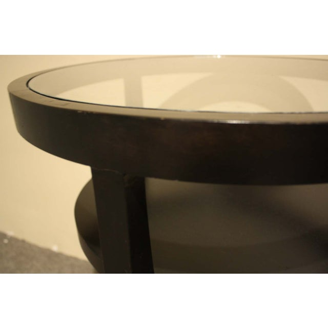 Ebony Wood & Glass Accent Table - Image 4 of 5