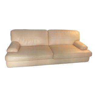 Roche Bobois Paris Butter Leather Sofa
