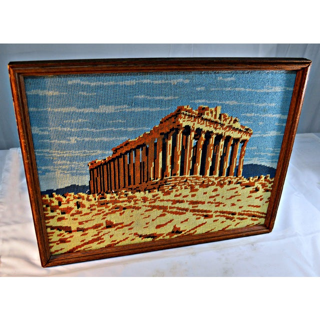 Antique Greek Parthenon Needlepoint - Image 4 of 5