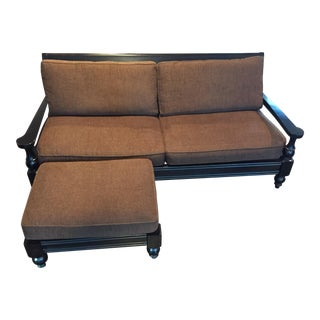 McCreary Modern Inc. Wood Frame Couch & Ottoman