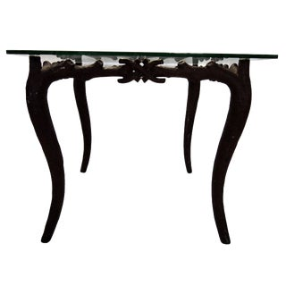 Painted Faux Bois Iron Table