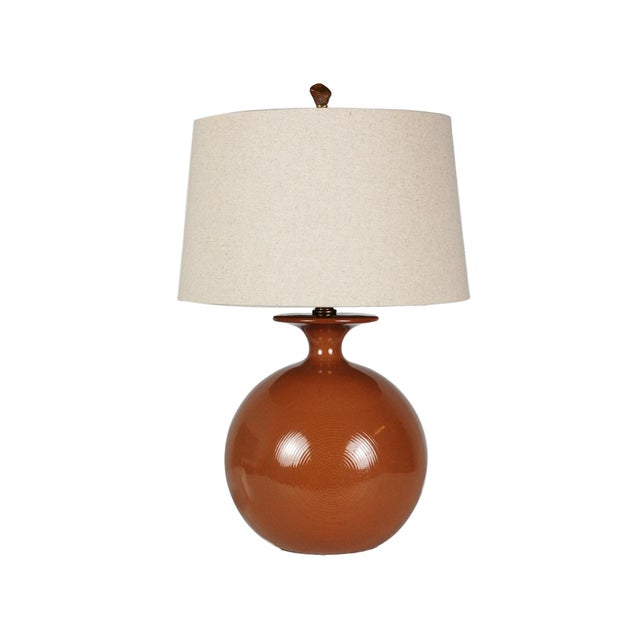 Mid-Century Modern Pottery Table Lamp - Image 1 of 7