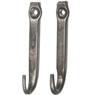 Repurposed Nail Coat Hooks- A Pair