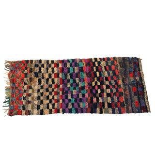 Vintage Boucherouite Rag Rug - 3′5″ × 8′