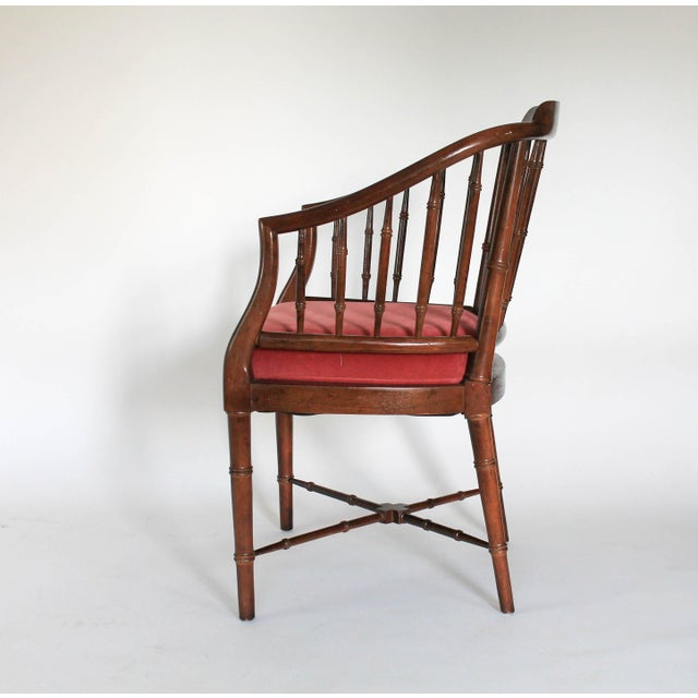 Faux Bamboo Armchair - Image 5 of 8