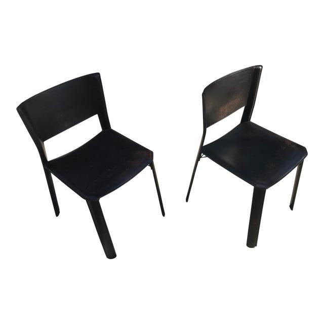 Post modern italian side chairs a pair chairish for Post modern chair