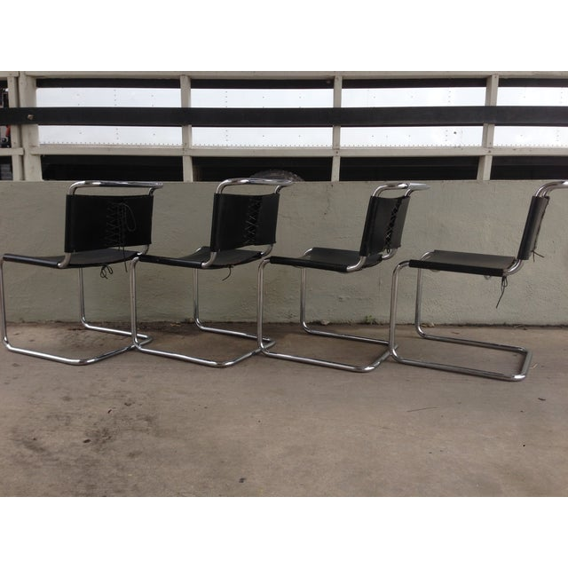 """Image of Marcel Breuer """"Spoleto"""" Chairs for Knoll - S/4"""