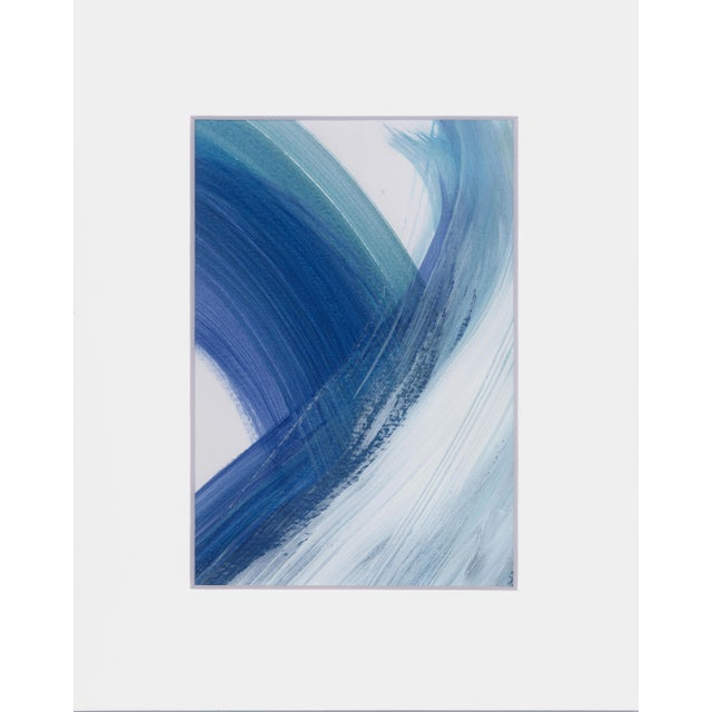 """Original """"Enjoy the Ride"""" Modern Abstract Minimalist Matted Acrylic Painting - Image 4 of 4"""
