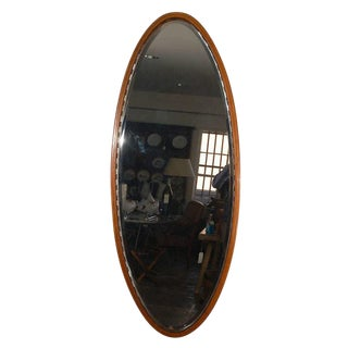 Larger Oval Beveled Mirror