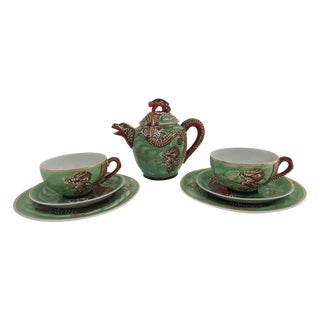 1940's Nagoya Moriage Dragon Ware Tea Set - 7