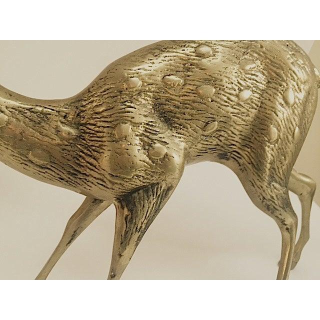 Large Brass Deer - Image 4 of 5