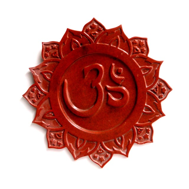 """Om"" Sanskrit Wall Plaque - Image 2 of 2"