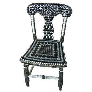 Folk Art Button Chair