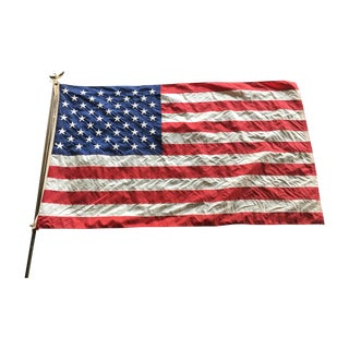 Well-Worn Vintage American Flag