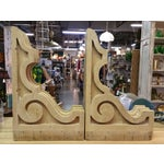 Image of 19th Century Antique Wooden Corbels - a Pair