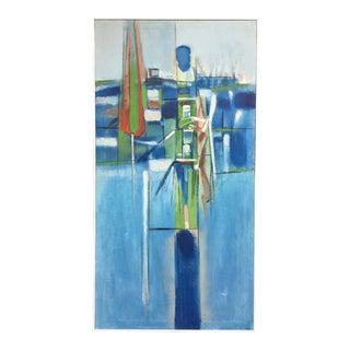 "Walter Askins ""Rising Figurehead"" Geometric Oil Painting"
