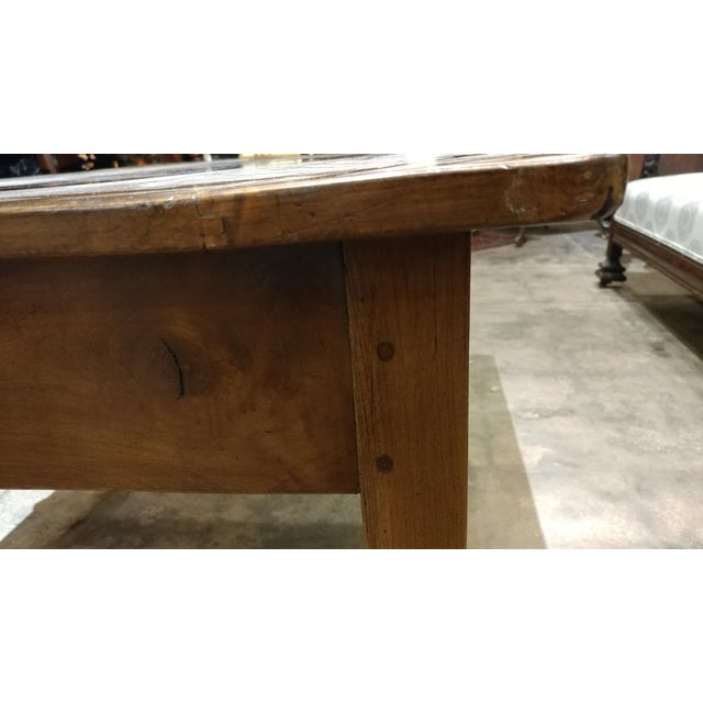 19th Century French Farm Walnut Coffee Table - Image 6 of 10