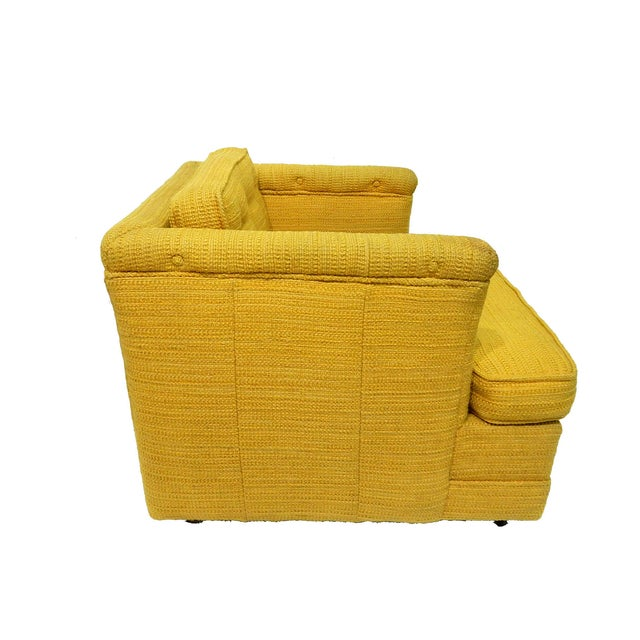 Yellow Mid-Century Club Chair - Image 3 of 8