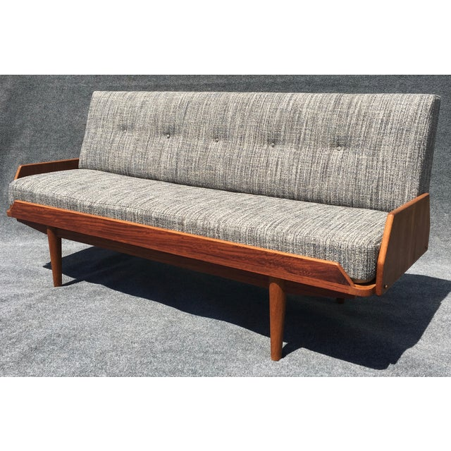 Mid century danish modern teak daybed chairish for Mid century modern day bed