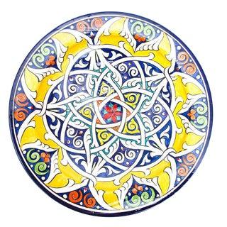 Atlas Moroccan Sunburst Pedestal Plate