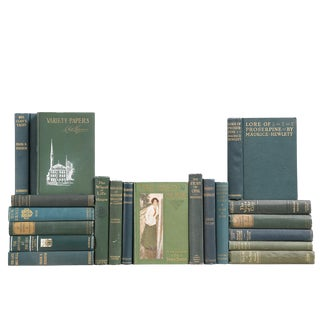 Early Vintage Green Books - Set of 20