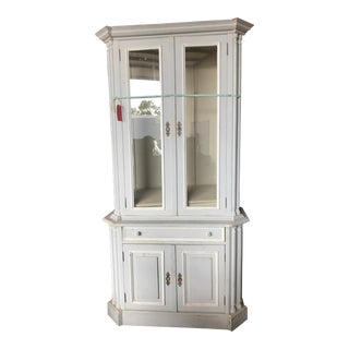 Swedish Gustavian Style Display Cabinet and Hutch