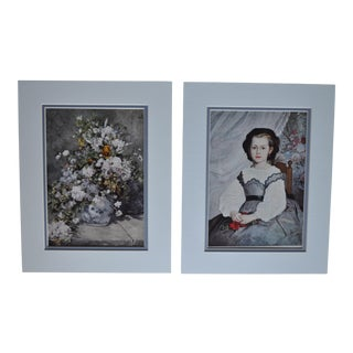 1950's Prints Early Renoir in Blues - A Pair